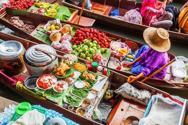 Mercado Flotante Damnoen Saduak y Río Kwai