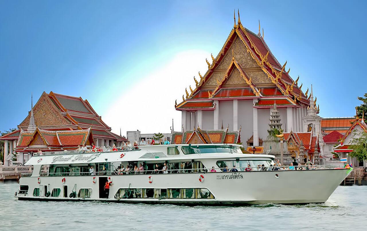 Ayutthaya a través del río (En autobús y Crucero)